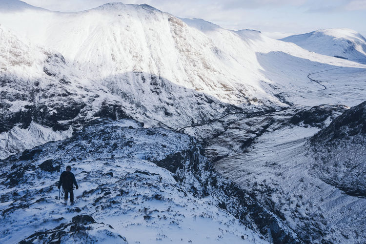 Adventure Beauty In Nature Challenge Climbing Cold Temperature Danger Epic Extreme Fitness Glencoe Ice Isolation Landscape Mountain Mountaineering One Person Outdoors Rock Scenics Scotland Snow Survival Tranquility Warm Clothing Winter