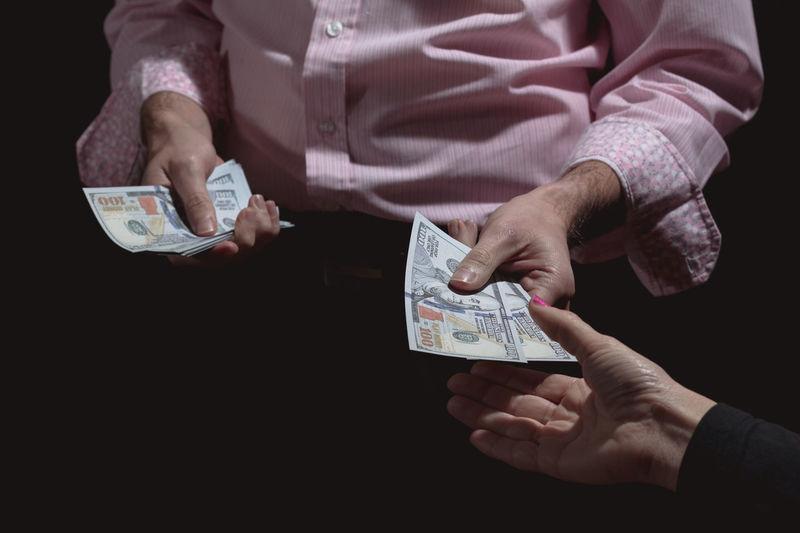 Alley Cash Cashmoney  Close-up Deal Dodgy  Dollars Exchange Hands Holding Human Hand Illegal Money Offer