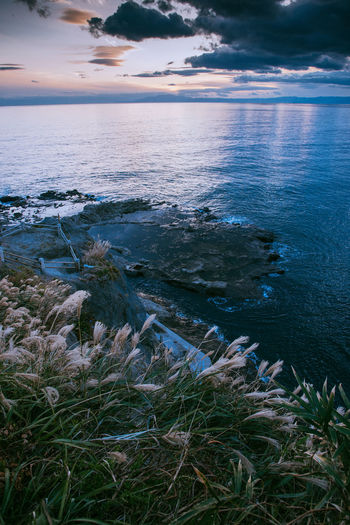 Sea Beach Nature Water Sunset Beauty In Nature Outdoors Scenics No People Tranquility Tranquil Scene Horizon Over Water Blue Day Winter Vacations Landscape Sky Wave 江の島 Enoshima Island Enoshima Japan Japan Photography Kamakura EyeEmNewHere Be. Ready.