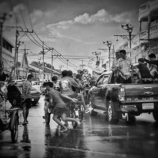Adult People Men Cloud - Sky Large Group Of People City Adults Only Crowd Outdoors Police Force Sky Only Men Day Songkran Festival Songkran Songkran Thailand Songkran Festival Day Lopburi Thailand The Street Photographer - 2017 EyeEm Awards