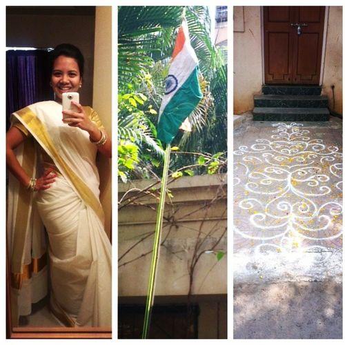 Excuses to dress up 100happydays Day12 Happyrepublicday Flaghoisting tricolour celebration vandemataram