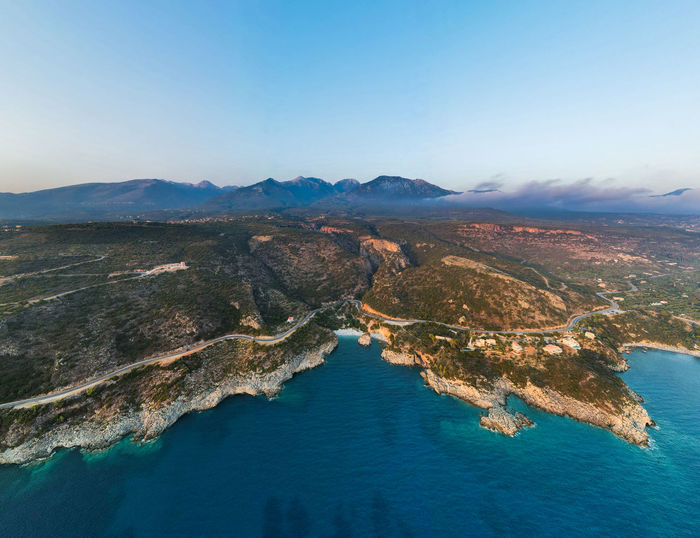 This is a panorama photo taken with view to foneas beach.