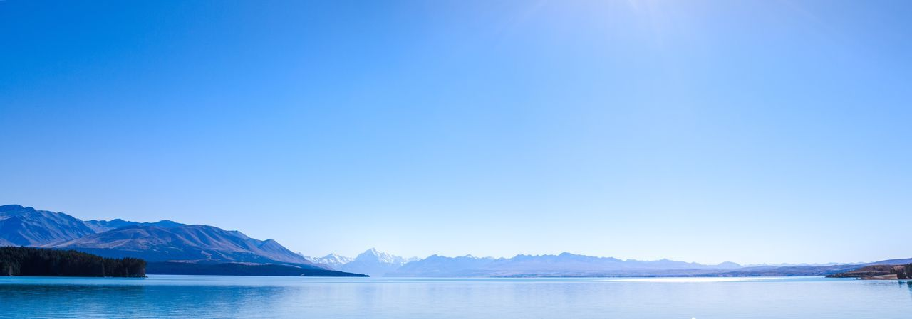 New Zealand Mountains And Sky Travel Blue Color Clear Sky