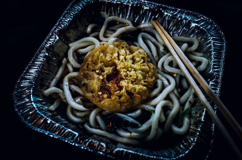 A Taste Of Life Darkness Japanese Food Japanese Culture Kakiage Abstract Cheap Food Close-up Cooked Fine Art Food Food And Drink Freshness Getting Inspired Indoors  Instant Food Junk Food Meal No People Noodles Pasta Plate Ready-to-eat Table Udon