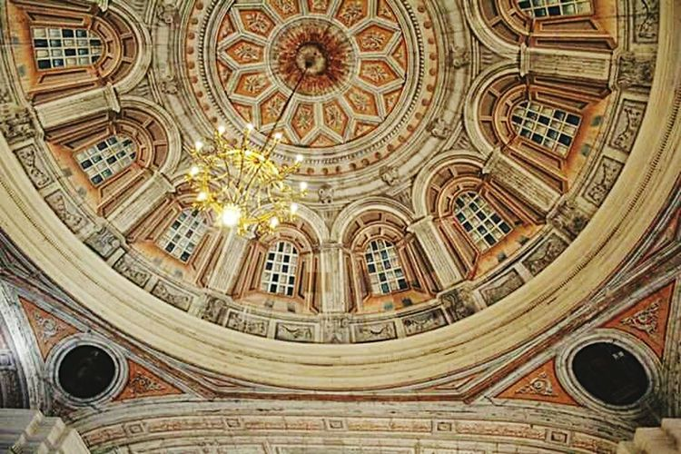 #catholic #catholicism #antique #ceiling #church #Painting Ornate No People Dome Indoors  Illuminated Built Structure EyeEm Ready