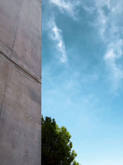 Sky Tree No People Igersportugal Portugal Instagramer Umeugram Concrete Wall Architecture Lookingup Vertical Symmetry Minimalism Minimal Adapted To The City