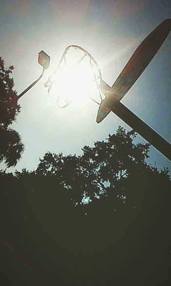 Basketball Hoop Sun☀ The Great Outdoors - 2015 EyeEm Awards Good Day Bright Outside Park Fun Creative Light And Shadow