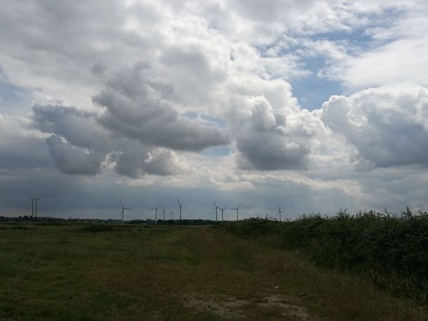 Clouds Grey Clouds Grey Sky Countryside Country Life Wind Farm Wind Turbines On A Field Wind Turbines Field