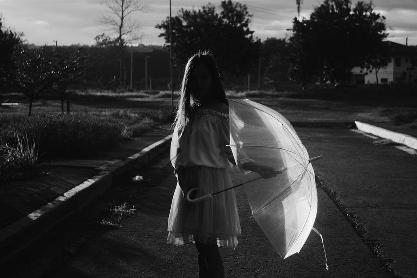 Silhouette. Women Of EyeEm VSCO NikonD3100 Blackandwhite Photography Asianlook Umbrella Philippines