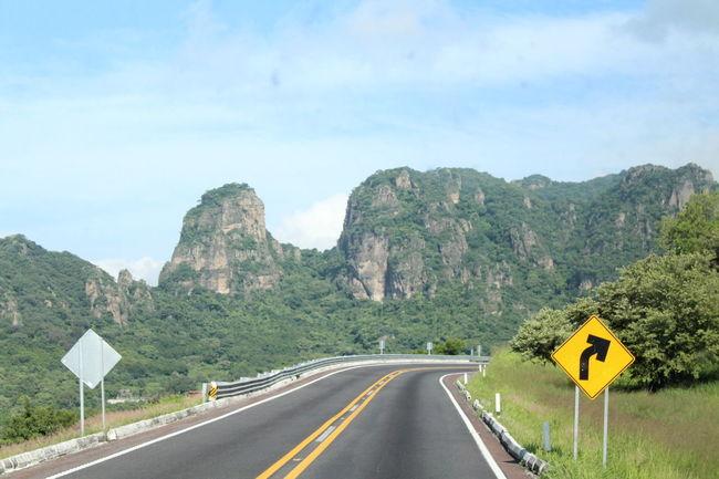 Carretera Cerro Cuernavaca Curva Morelos Señalización Sky Viaje
