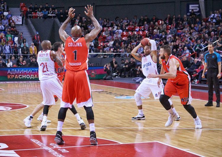 Sport Activity Basketball - Sport Large Group Of People Sportsman Professional Sport Competition Basketball Uniform Indoors  Basketball, Eurocup  Lokomotiv-kuban