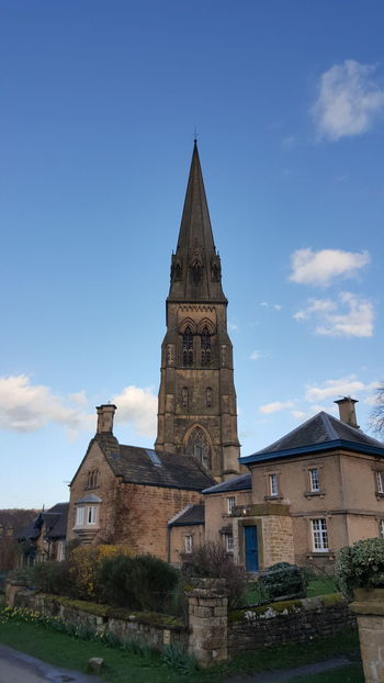 The beautiful church at Edensor 💙 Architecture Place Of Worship Building Exterior Built Structure From My Point Of View Photography Is My Escape From Reality! Check This Out For Anyone Whos Interested The Purist (no Edit, No Filter) Peak District  Derbyshire Edensor Blue Beautiful Beautiful Day Spring Springtime Dayoffwork