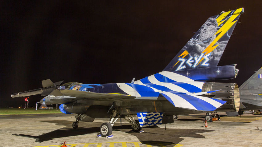Air Force Aircrafts Airshow Aviation Demo Team Display Dynamic F-16 Greece Military Photography Poland Radom Show Zeus