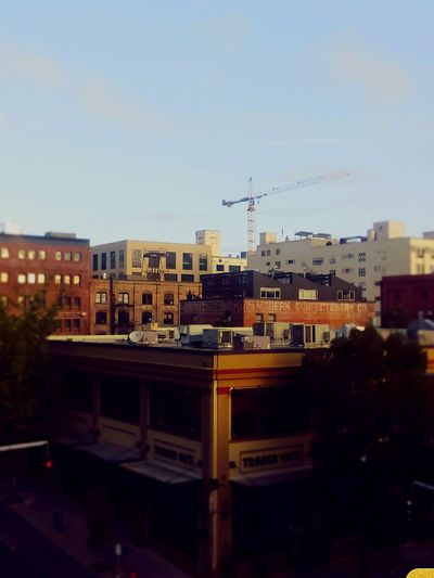 Morning in the pearl Morning Pearl District Blue Sky First Photo Of The Day Early To Rise six a.m. in Portland Summer Pdxsummer Color Photography Quiet Sunday