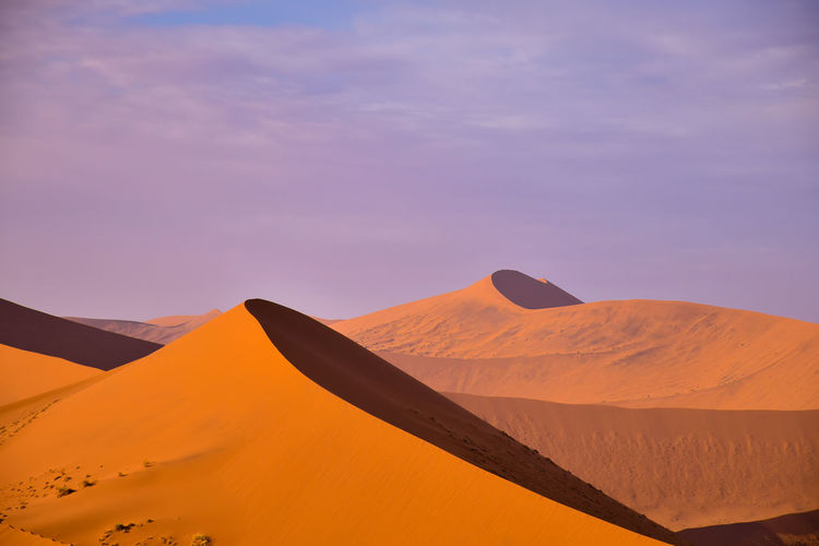 Red hot sand dunes, namibia