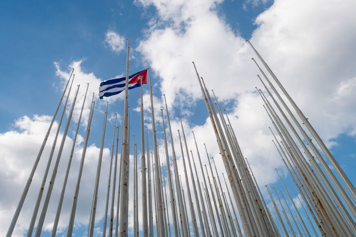 Cuba Cuban Flag Havana Cloud - Sky Flag Low Angle View No People Outdoors Patriotism Sky