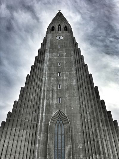 Architecture Sky History Tower Religion Iceland Reykjavik Place Of Worship Travel Destinations Low Angle View Cloud - Sky Building Exterior Halgrimskirkja Neighborhood Map