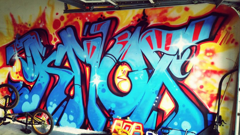 My garage! Urban Art Graffiti Spraypaint