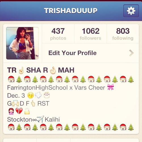 Follow my IG! @Trishaduuup