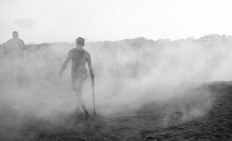 Aboriginal Australia Native Warrior Bw Dust Fog One Person The Traveler - 2018 EyeEm Awards