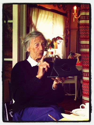 Grandma Is Checking Out The IPad Mini