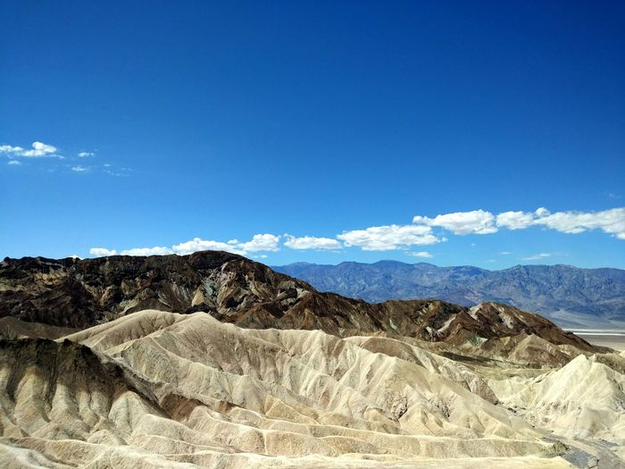 Death Valley Beauty In Nature Blue Climate Cloud - Sky Day Environment Formation Geology Idyllic Landscape Mountain Mountain Range Nature No People Non-urban Scene Outdoors Physical Geography Rock Scenics - Nature Sky Tranquil Scene Tranquility Travel Destinations