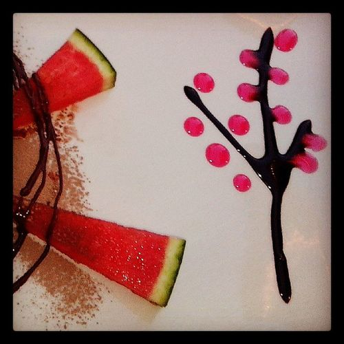 the more important part of the dessert: the decoration! Dessert Fooddecore Cherrytree Delicious yum culinaryart
