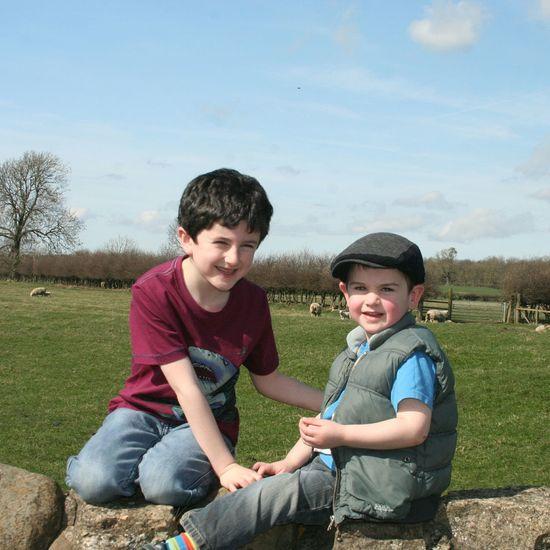 Boys enjoying the spring sunshine Family Sons Love Happy Sunshine Spring Streamzoofamily Photography