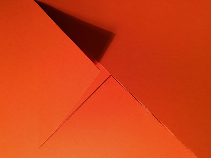 Close-up of orange cardboard box