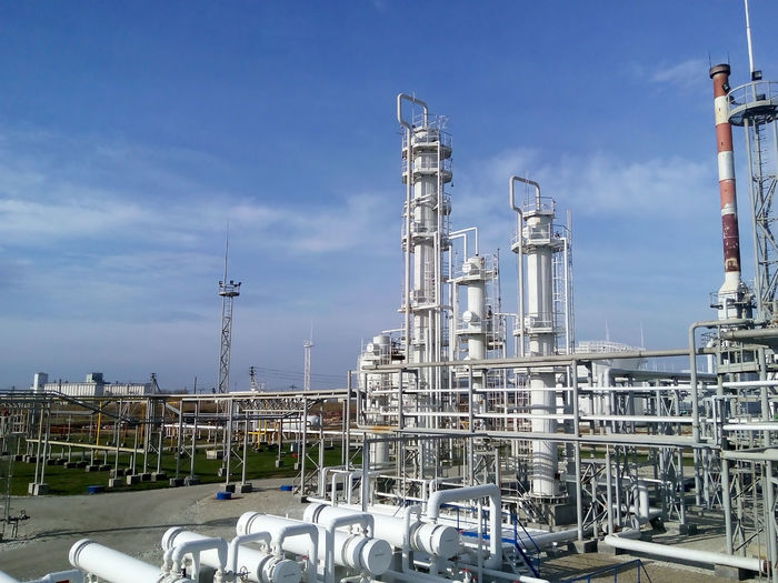 Day Distillation Factory Fuel And Power Generation Industry No People Oil Industry Oil Refinery Outdoors Petrochemical Plant Sky Smoke Stack Technology