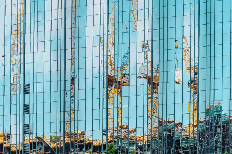 - A = ARCHITECTURE - The Architect - 2018 EyeEm Awards Check This Out! Modern Living Reflection_collection Reflection Berlin Photography Architecture Modern Architecture Architecture Built Structure No People Day Building Exterior Full Frame Pattern Backgrounds Blue Sky Outdoors Building Metal Modern