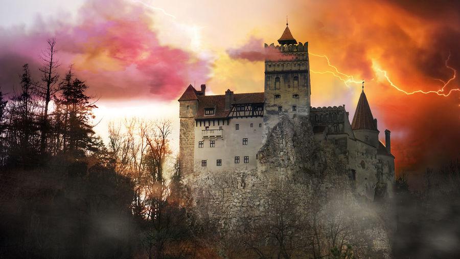 Castle Dracula Eastern Europe Fairytale  Romania Architecture Bran, Romania Building Exterior Built Structure Dracula's Castle Europe Outdoors Sky