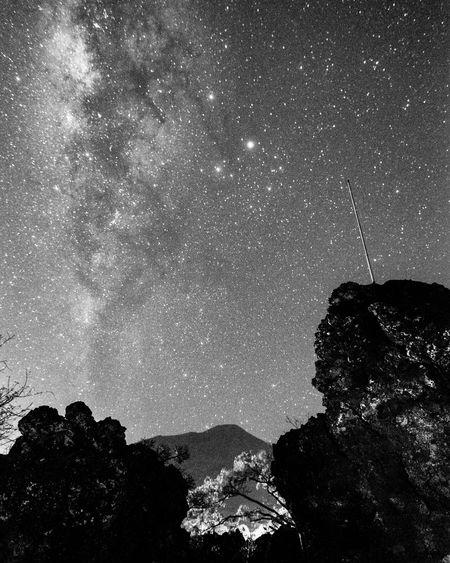 Milkyway Grain B&w Photography Astronomy Astrophotography Batuangus Ternate Island, Molucca