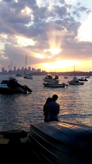 Beautiful sunset after today's heatwave, lucky there was this loved up couple there! Sunset Cloud - Sky Water Sky Outdoors Sea EyeEm Gallery Optus Eye4photography  Love Couple Travel Australia People Light EyeEm Best Shots EyeEmBestPics Healthy Lifestyle Day PhonePhotography Phone Photography