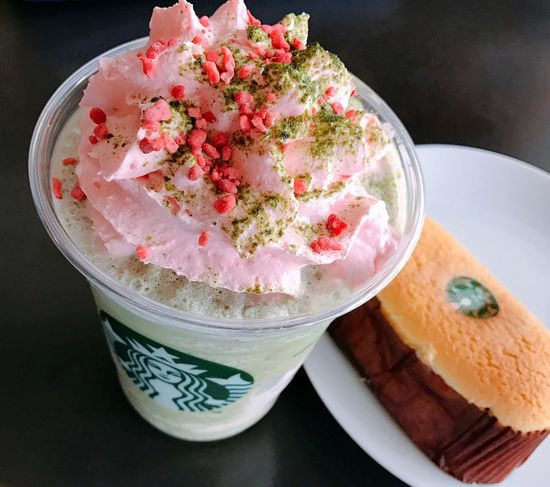 Millennial Pink Starbucks Matcha Strawberry Cheese Cake