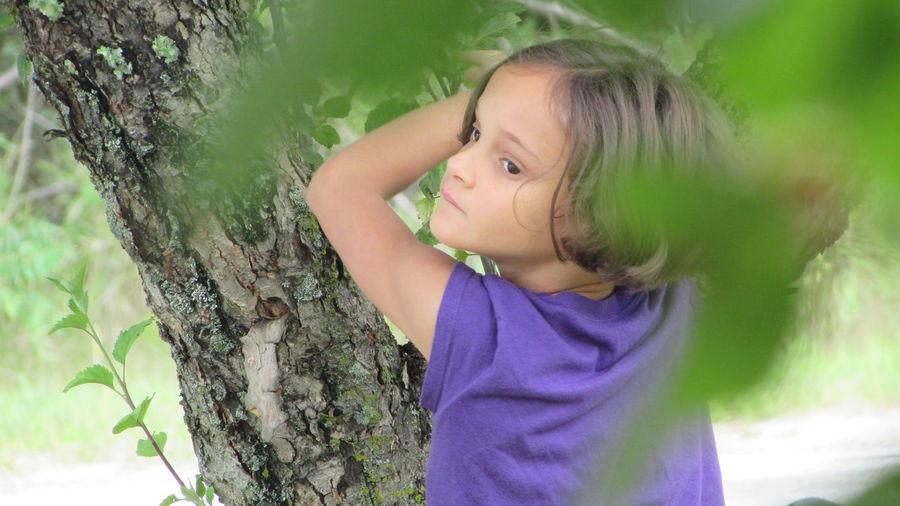 My Little One 😍 Summer Vibes Jenna Climbing An Apple Tree Daughterlove Tustin Michigan