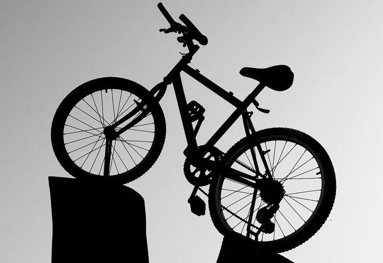 Black And White Bicycle Arroyo De La Miel Spain🇪🇸 Blackandwhite Black And White Photography Black&white EyeEm Best Shots - Black + White Silhouette Wheel EyeEmNewHere Black And White Friday