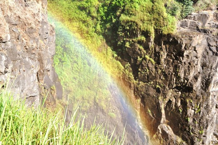 Rainbow Colours Colorful Waterfall Water Victoriafalls Nature Rocks And Water Africa African Beauty Reflection Sun Colourful Beauty In Nature Beautiful Coloursplash Colours Of Nature Overtherainbow The Great Outdoors - 2017 EyeEm Awards Neon Life