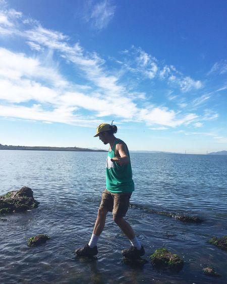 Walkin on water, running on waves. Bay Area Berkeley Ocean Enjoying Life California Golden Gate Bridge