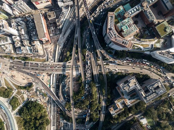 Traffic Jam Junction Aerial View City Aerial View Transportation Traffic Connection Elevated Road Cityscape Overpass Built Structure Street Development High Angle View Downtown District City Life City Street Modern Bridge - Man Made Structure Building Exterior Road EyeEm Ready   #urbanana: The Urban Playground