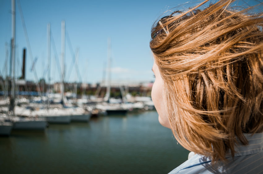 Rear view headshot of a blonde girl with a yacht harbor in the background. Harbor Merepäevad Sunny Tallinn Tallinna Merepäevad Vanasadam Yachts Blond Hair Blonde Hair Close-up Focus On Foreground Headshot Leisure Activity Lennusadam Lifestyles Marine Marine Life Moored One Person Outdoors Port Rear View Sailboat Summer Water
