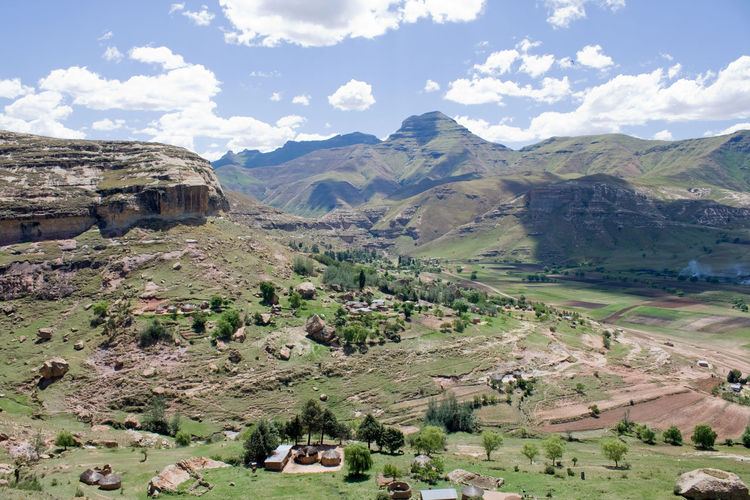 Lesotho: The Mountain Kingdom in Africa Lesotho Lesotho Mountain Landscape Scenics - Nature Landscape Mountain Outdoors Mountain Range Field No People Non-urban Scene Sky Land Environment Panoramic View