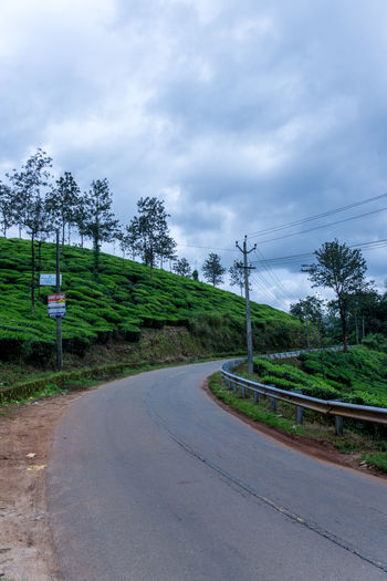 Agriculture Beauty In Nature Cloud - Sky Curve Day India Kerala Landscape Nature No People Outdoors Plantation Road Roads Sky Tea Plantation  Tranquility Transportation Travel Travel Destinations Travel Photography Tree Trees Wayanad Winding Road The Great Outdoors - 2017 EyeEm Awards