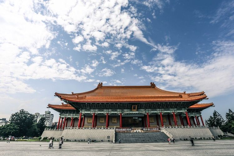 Built Structure Architecture Sky Tourism Travel Spirituality Travel Destinations Cloud - Sky Taipei Taiwan