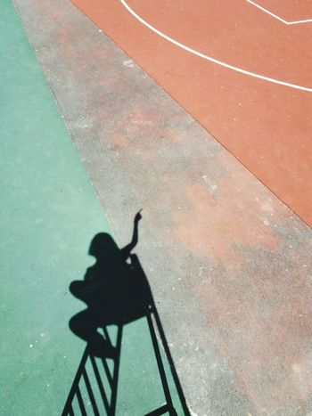 Sport Photography Themes Shadow Silhouette High Angle View Focus On Shadow Peace Sign  Sports Track Long Shadow - Shadow Camera - Photographic Equipment