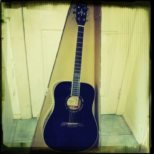 unboxed this bad boy today!!! New Guitar Blackguitars Gottalovethem