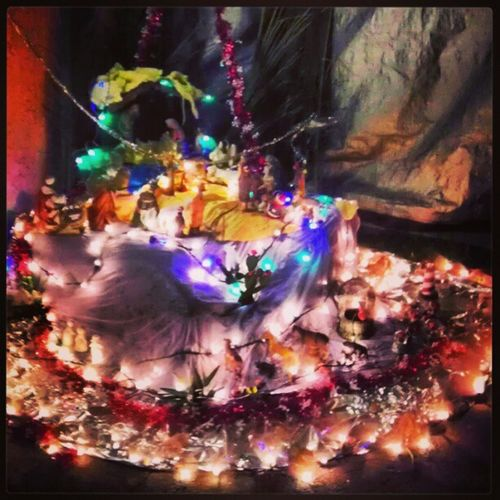 The placement of baby Jesus BabyJesus Notmethejesusupthere Christmastime