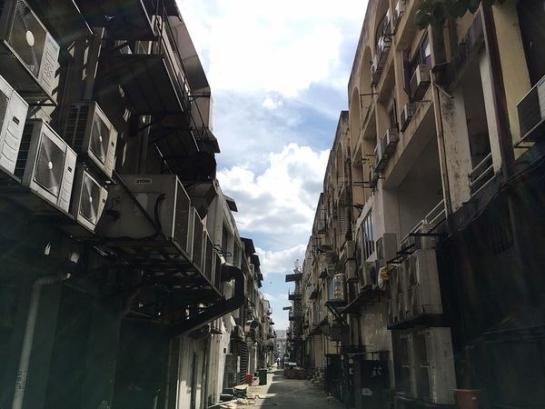 Back Alley Architecture Built Structure Building Exterior Sky Cloud - Sky City Day Building Residential District Alley Sunlight No People Outdoors The Way Forward Low Angle View Direction Nature Street Diminishing Perspective Travel EyeEmNewHere