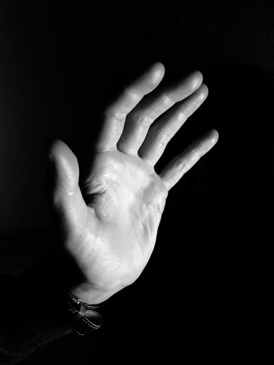 IPhoneography Human Hand Human Finger Human Body Part One Person Close-up Black Background Real People Indoors