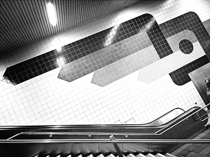 Inna Zitty 2014 Taking Photos From My Point Of View Subway Blackandwhite Traveling Discover Your City Architecture Get Shit Done  My Best Photo 2014